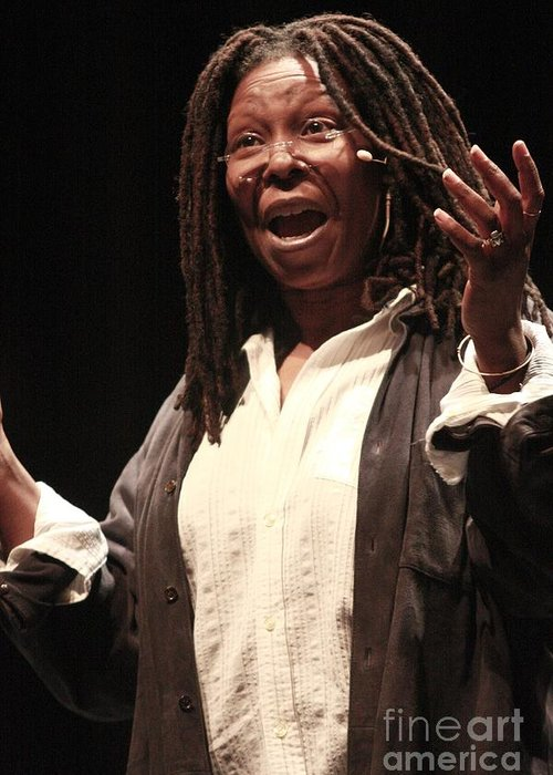 Pictures For Sale Greeting Card featuring the photograph Whoopi Goldberg by Concert Photos