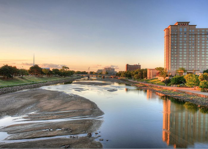 Arkansas River Greeting Card featuring the photograph Wichita by JC Findley