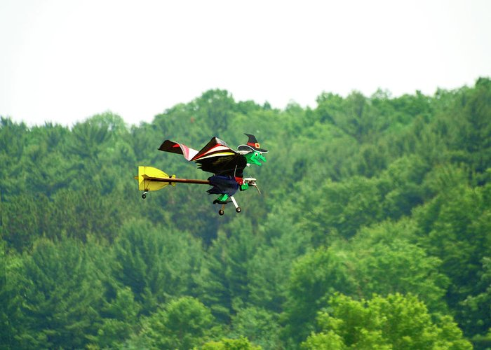 Radio Controlled Flying Device Greeting Card featuring the photograph Wicked And Flying by Thomas Young