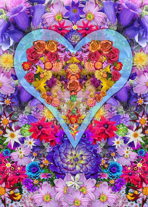 Wild Flower Heart Greeting Card featuring the photograph Wild Flower Heart by Alixandra Mullins