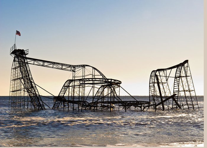 Hurricane Sandy Photographs Photographs Greeting Card featuring the photograph Wild Ride by Michael Attanasio