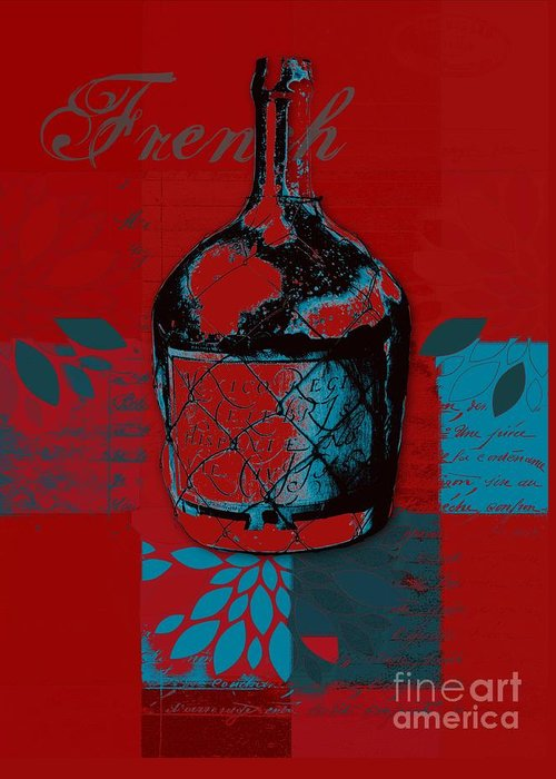Red Greeting Card featuring the digital art Wild Still Life - 0102b - Red by Variance Collections