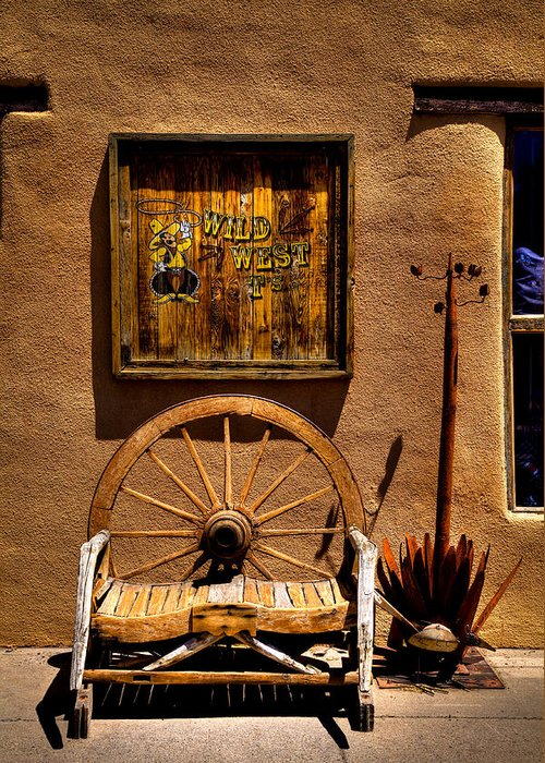 New Mexico Greeting Card featuring the photograph Wild West T-shirts - Old Town New Mexico by David Patterson