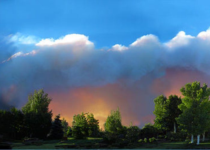 Colorado Greeting Card featuring the photograph Wildfire Coming by Ric Soulen
