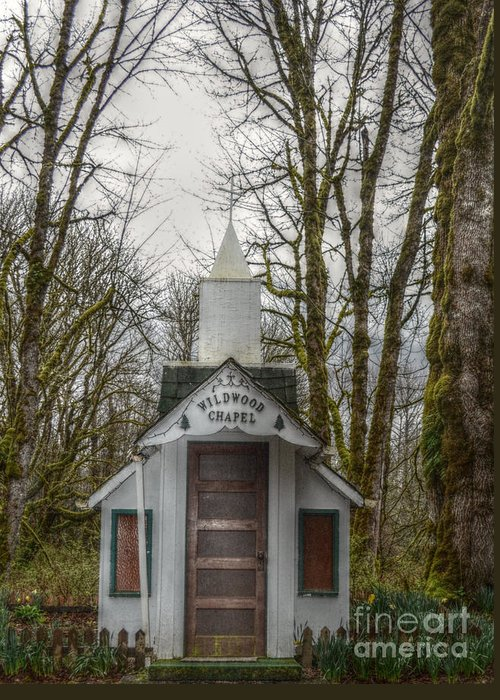Chapel Greeting Card featuring the photograph Wildwood Chapel by Kasie Comstock