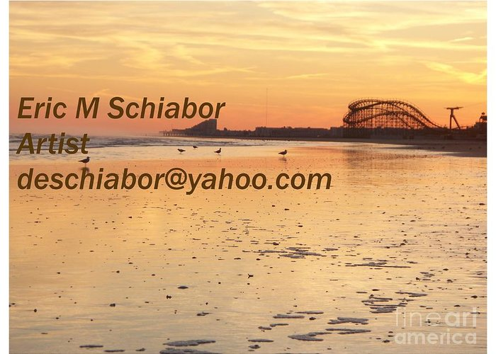 Wildwood Sunset Greeting Card featuring the photograph Wildwood Sunset by Eric Schiabor