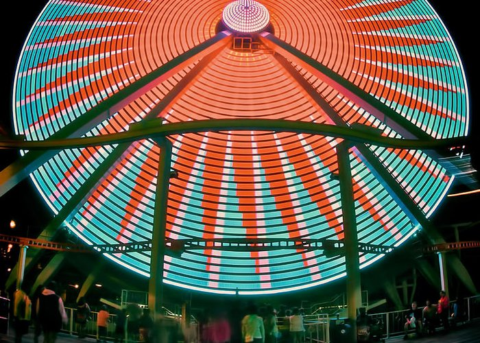 156 Foot Tall Greeting Card featuring the photograph Wildwood's Giant Wheel by Mark Miller