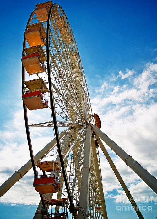 156 Foot Tall Greeting Card featuring the photograph Wildwood's Wheel by Mark Miller