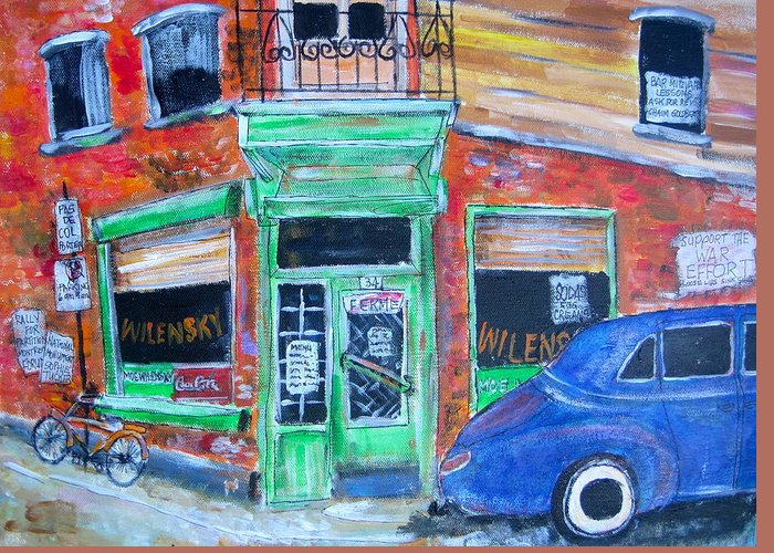 Litvack Greeting Card featuring the painting Wilensky by Michael Litvack