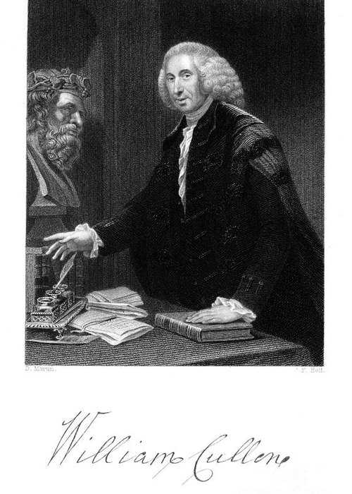 1839 Greeting Card featuring the photograph William Cullen (1710-1790) by Granger