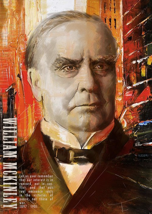 William Mckinley Greeting Card featuring the painting William Mckinley by Corporate Art Task Force