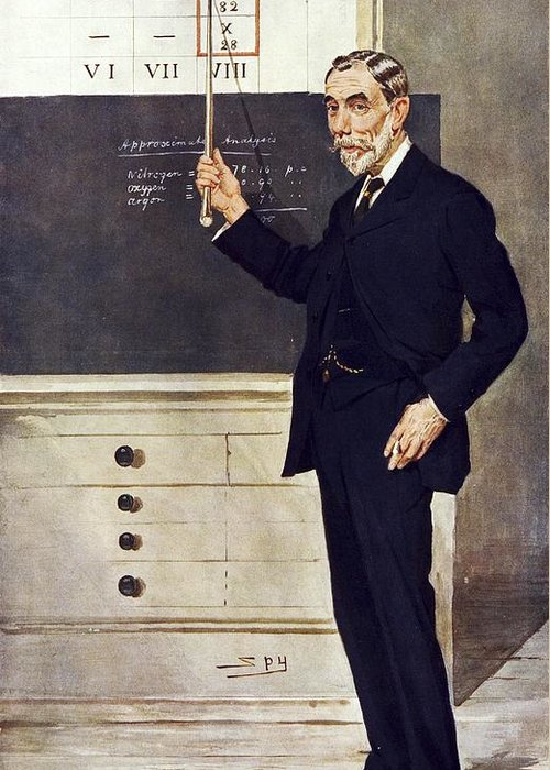 1800s Greeting Card featuring the photograph William Ramsay, Scottish Chemist by Science Photo Library