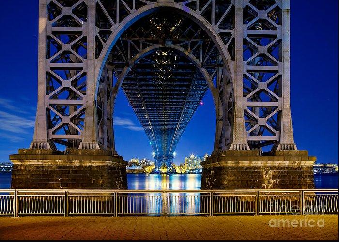 Williamsburg Bridge Greeting Card featuring the photograph Blue Punch by Az Jackson