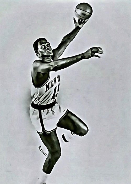 Willis Reed Greeting Card featuring the painting Willis Reed by Florian Rodarte