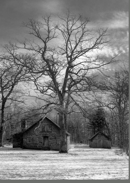 Appalachia Greeting Card featuring the photograph Wilson Lick Ranger Station by Debra and Dave Vanderlaan