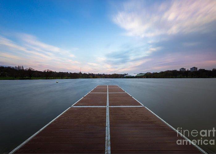 Park Greeting Card featuring the photograph Wimbledon Park Sunset by Matt Malloy