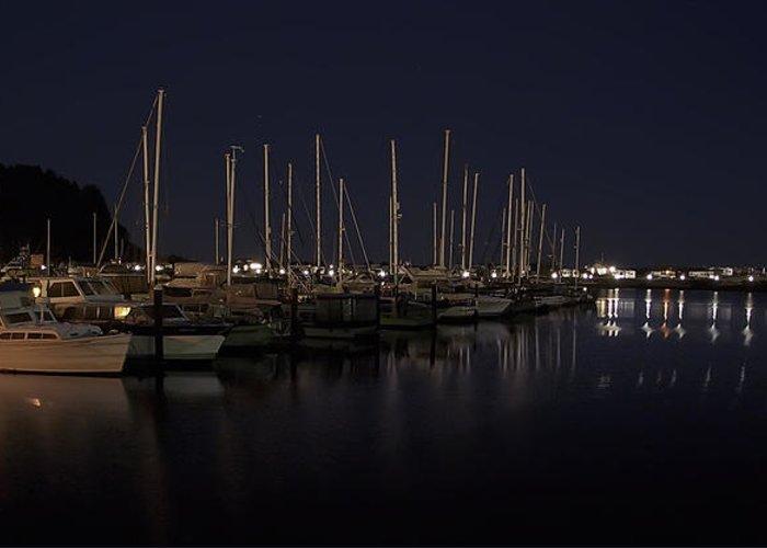 fishing Boats Greeting Card featuring the photograph Winchester Bay Marina - Oregon Coast by Daniel Hagerman