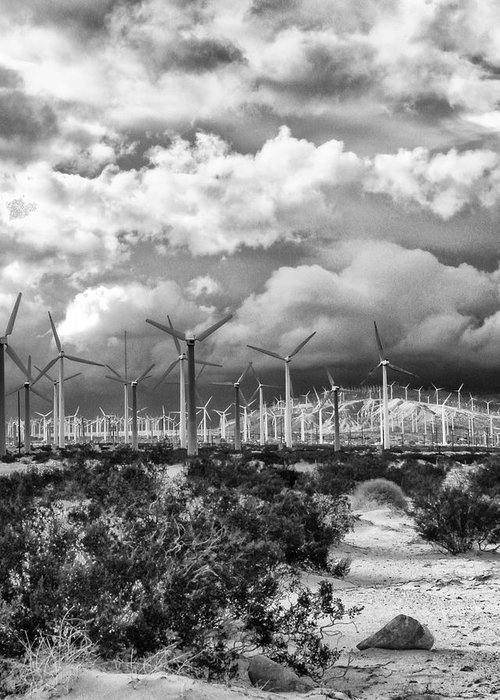 Windmills Greeting Card featuring the photograph Wind Dancer Palm Springs by William Dey