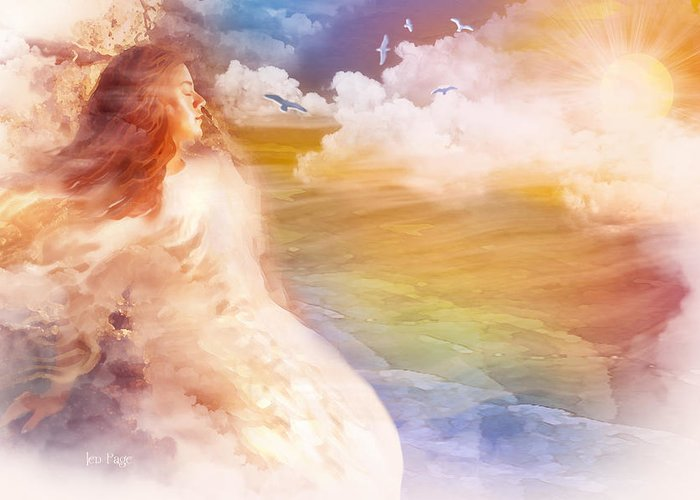 Jennifer Page Greeting Card featuring the digital art Wind Of His Glory by Jennifer Page