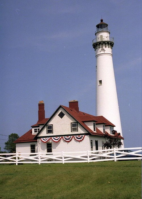 Scenic Greeting Card featuring the photograph Wind Point Lighthouse by Dick Willis