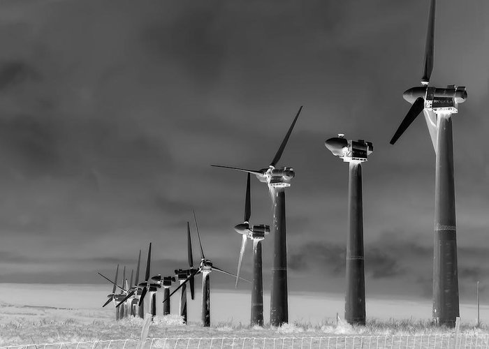 Energy Greeting Card featuring the photograph Wind Power Down by Daniel Hagerman