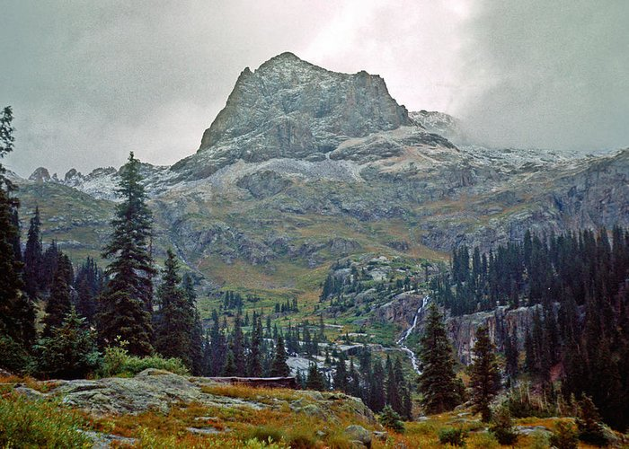 Wind River Range Greeting Card featuring the photograph Wind Rivers 3 by Gary Benson