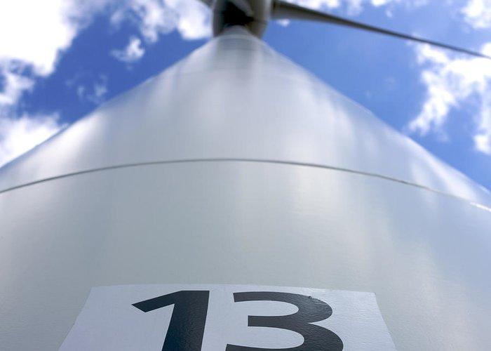 Alternative Greeting Card featuring the photograph Wind Turbine. No 13 by Bernard Jaubert