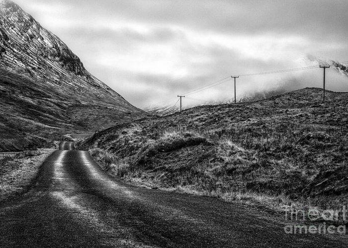 Beautiful Scotland Greeting Card featuring the photograph Winding Road In Glen Etive by John Farnan
