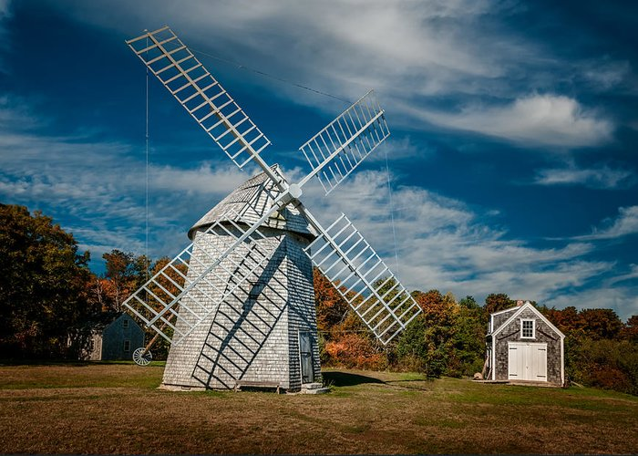 Windmill Greeting Card featuring the photograph Windmill Number 1 by Fred LeBlanc
