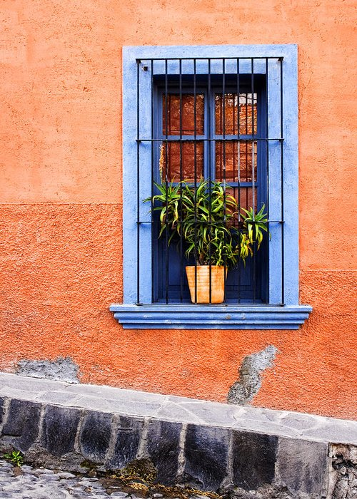 Doors Greeting Card featuring the photograph Window In San Miguel De Allende Mexico by Carol Leigh