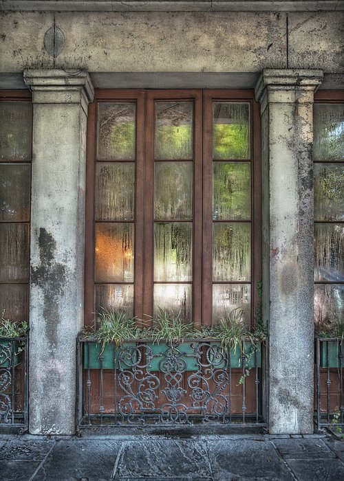 French Quarter Greeting Card featuring the photograph Window In The Quarter by Brenda Bryant