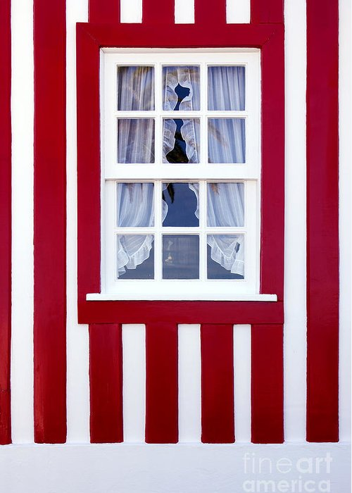 Architecture Greeting Card featuring the photograph Window On Stripes by Carlos Caetano
