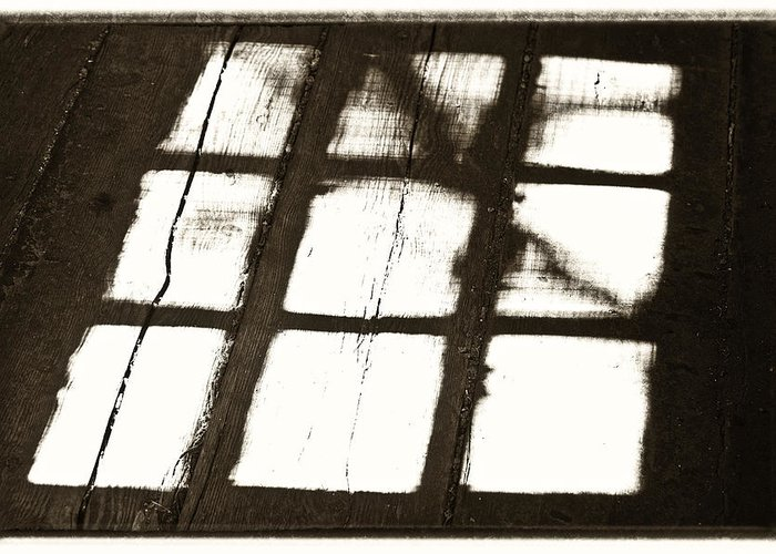 Alberta Greeting Card featuring the photograph Window Shadow by Craig Brown