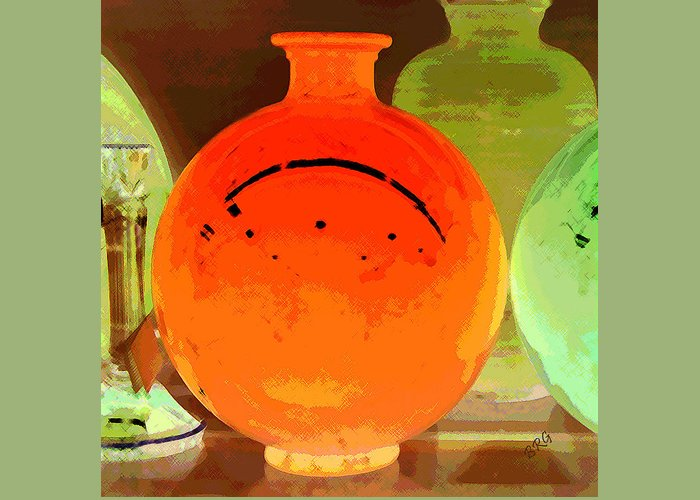 Vase Greeting Card featuring the photograph Window Shopping For Glass by Ben and Raisa Gertsberg