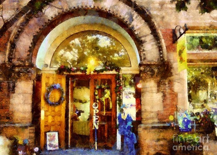 Bethlehem Pa Greeting Card featuring the photograph Window Shopping by Janine Riley