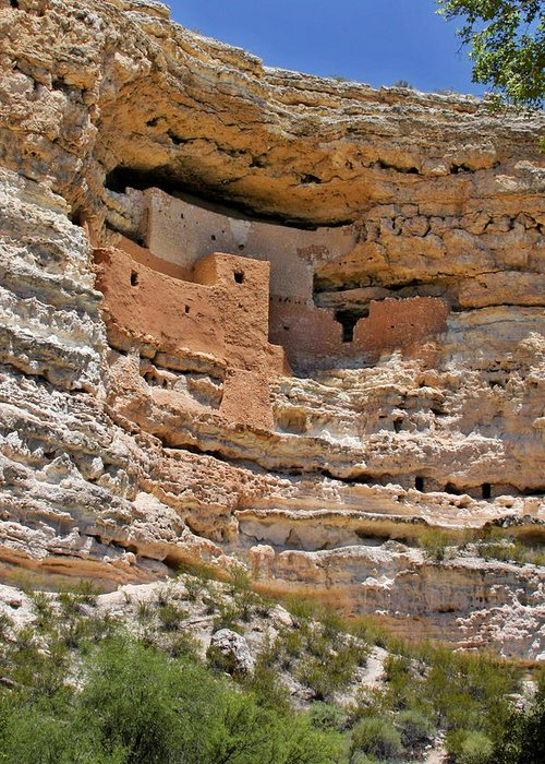 Culture Greeting Card featuring the photograph Window To The Past - Montezuma Castle by Christine Till