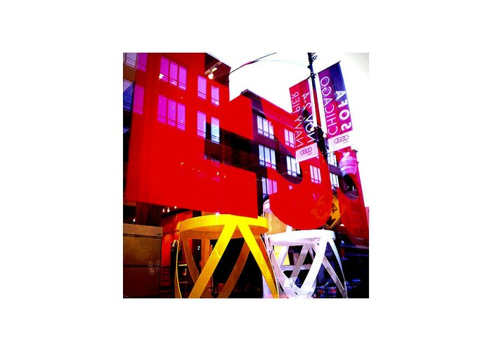 Red Greeting Card featuring the photograph Window_10.09.12 by Paul Hasara