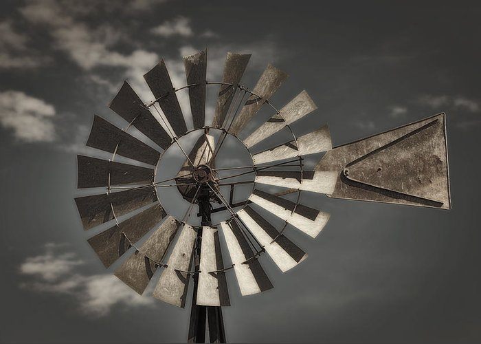 Windmill Greeting Card featuring the photograph Winds Of Time by Tony Santo