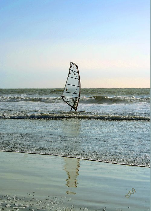 Windsurfer Greeting Card featuring the photograph Windsurfing by Ben and Raisa Gertsberg