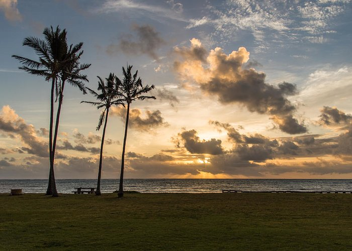 Pacific Ocean Greeting Card featuring the photograph Windward Oahu Sunrise by Charles Malefyt