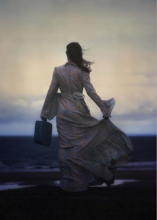 Woman Greeting Card featuring the photograph Windy Journey by Joana Kruse