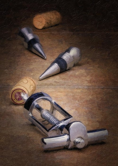 Wine Accessories Greeting Cards