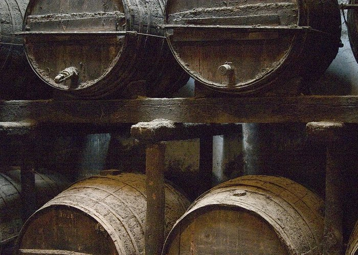 Jerez Greeting Card featuring the photograph Wine Barrels by Joshua Tennant
