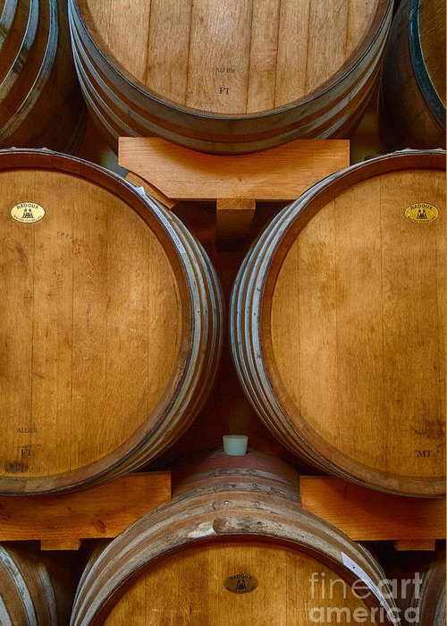 Michele Greeting Card featuring the photograph Wine Barrels by Michele Steffey