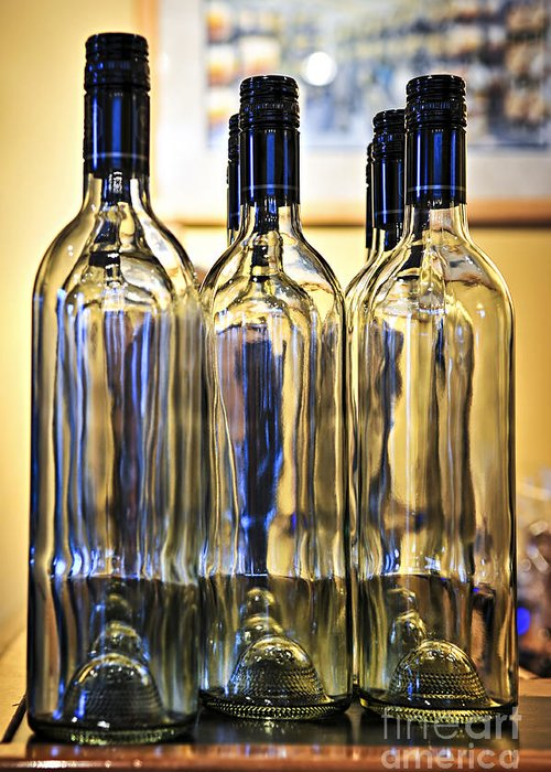 Wine Greeting Card featuring the photograph Wine Bottles by Elena Elisseeva