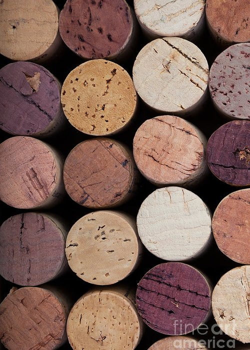 Alcohol Greeting Card featuring the photograph Wine Corks 1 by Jane Rix