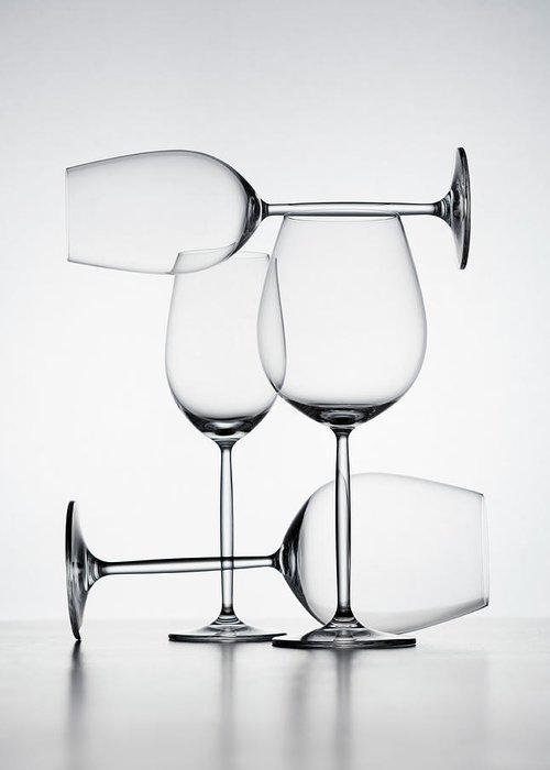 Empty Greeting Card featuring the photograph Wine Glasses by Jorg Greuel