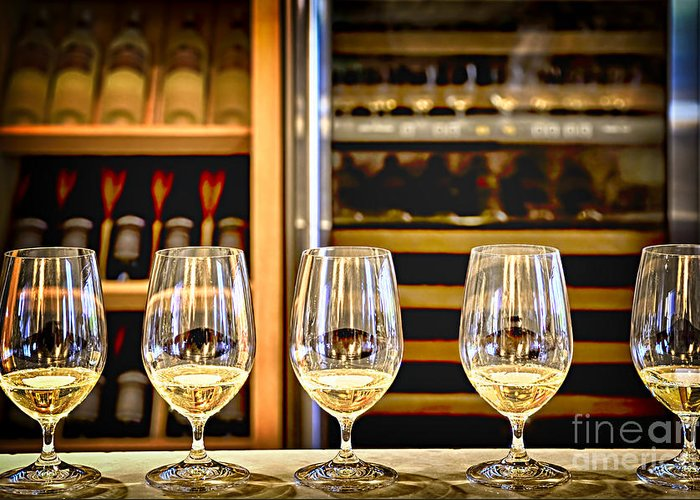 Wine Greeting Card featuring the photograph Wine Tasting by Elena Elisseeva