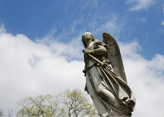 Cemetery Greeting Card featuring the photograph Winged Angel by Jennifer Ancker