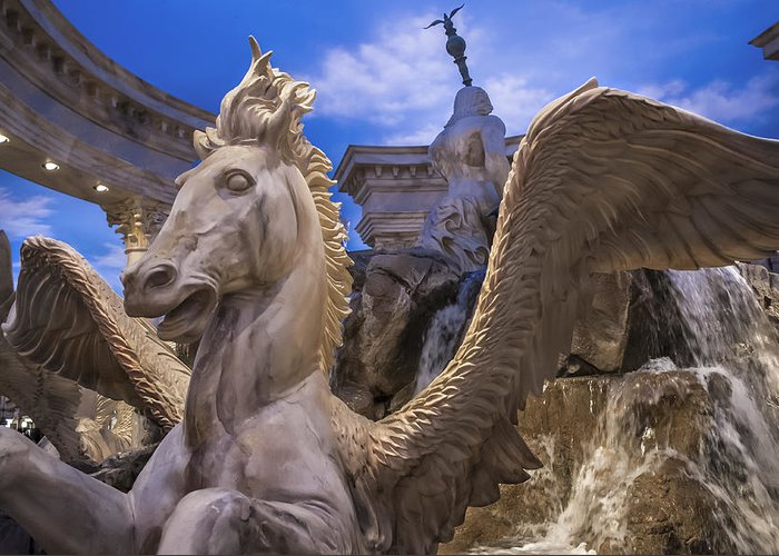 Winged Horse Greeting Card featuring the photograph Winged Horse by Glenn DiPaola